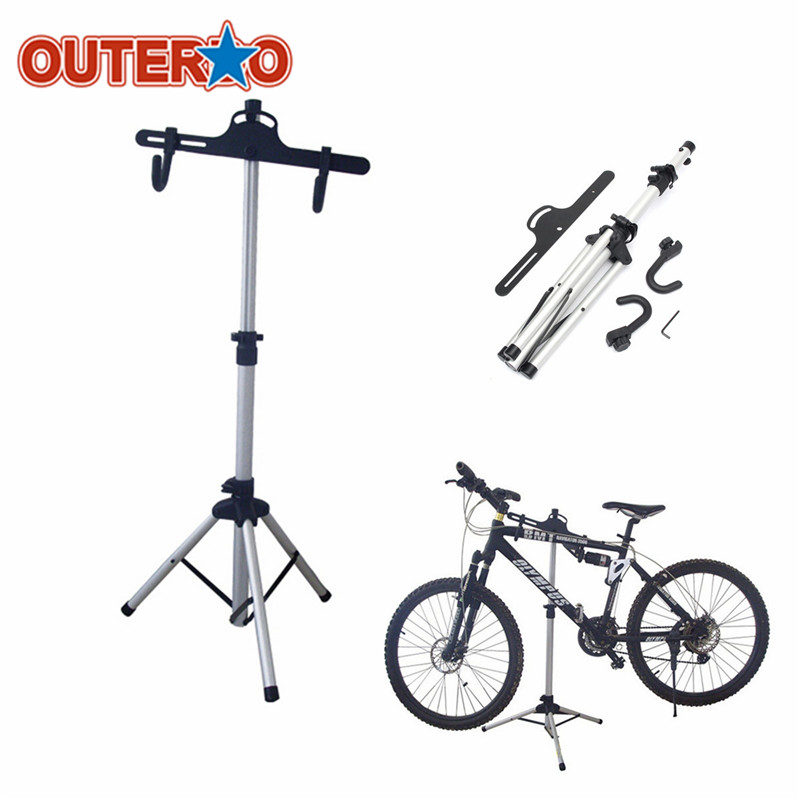 OUTERDO Repair Stand Cycling Rack Holder Heavy Duty Aluminium Alloy Bicycle Stand MTB Bike Home Storage Maintenance Tool