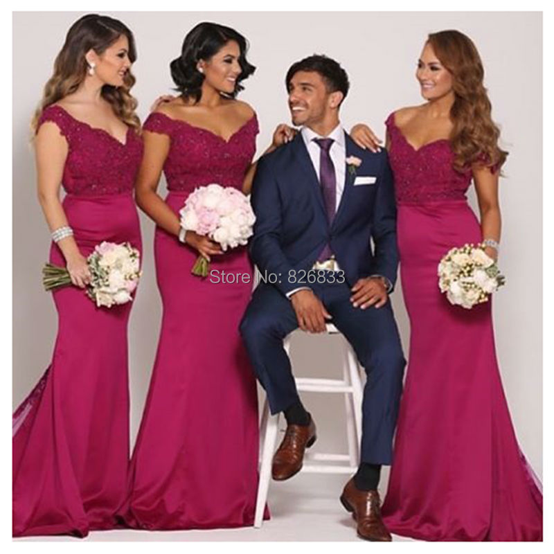 Fuchsia Bridesmaid Dresses
