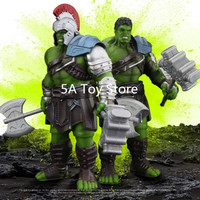 Avengers Thor 3 Ragnarok Action Figure War Hammer Battle Axe Gladiator Hulk PVC Action Figure Collectible Model Toy