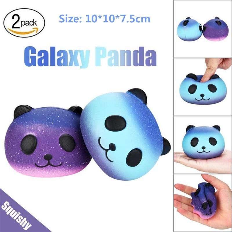 Squishy oyuncak antistress Fun 2PCS Galaxy Panda Cute Scented Squishies Slow Rising Soft Squeeze Charms Toy