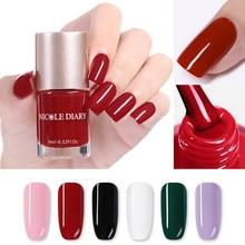 Лак для ногтей NICOLE DIARY, 6/9 мл, розовый, белый, черный лак для дизайна ногтей, быстросохнущий, долговечный, 6 цветов