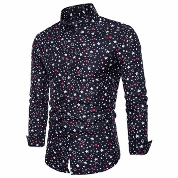 Men Business Long Sleeved Shirt