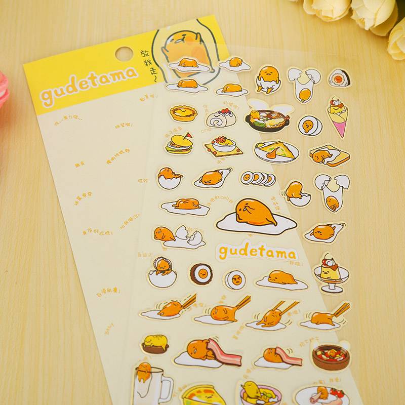 cartoon Gudetama paper sticker DIY decoration sticker for album scrapbooking diary kawaii stationery