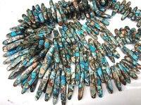 Море осадка Imperial Джаспер драгоценный 20-50 мм зубы шипы отметил Императорский Джаспер ожерелье синий Радуга Красный Фиолетовый бисер полный S