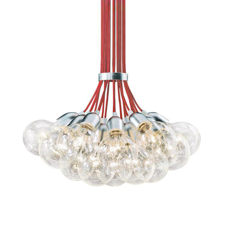 Modern Glass Bulb Dining Room Pendant Lights Bar Counter Red Cords Restaurant Pendant Lamp Study Room Hallway Pendant Lamps vintage pendant lights industrial loft american retro lamps creative restaurant dining room lamp bar counter incandescent bulb
