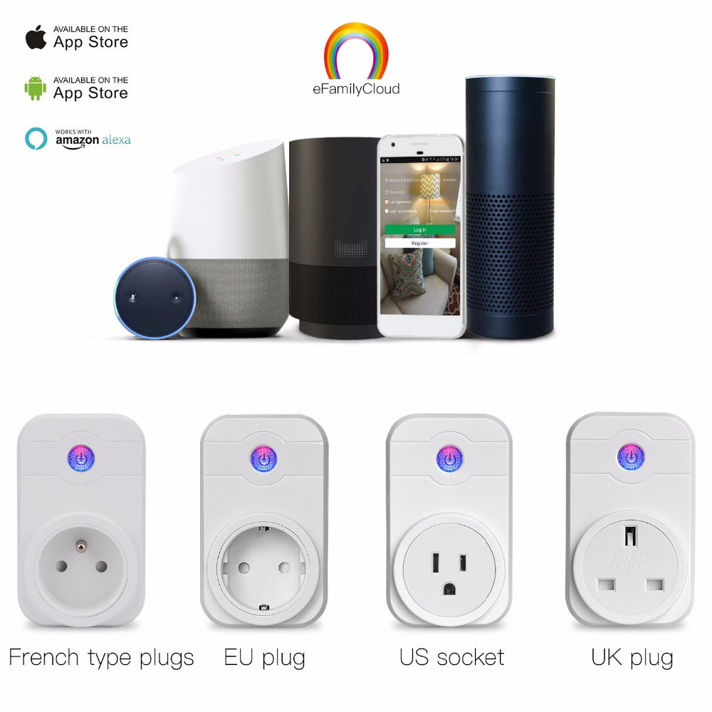 Home Automation Phone Remote Control Timer Control Voice Control Wifi Smart Plug socket Working with Google