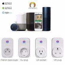 Домашней автоматизации пульт дистанционного управления телефоном Управление таймер Управление голос Управление Wi-Fi Smart Plug Разъем работа с Google дома Amazon Alexa