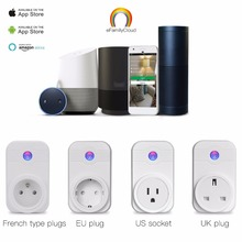 Home Automation Phone Remote Control Timer Control Voice Control Wifi Smart Plug socket Working with Google home Amazon Alexa(China)