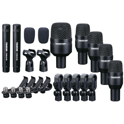 Takstar Drum Set Metal Wired Microphone Mic Kit Professional Musical Instruments DMS-D7