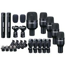 Takstar Drum Set Metallo Wired Microfono Mic Kit di Strumenti Musicali Professionali DMS D7