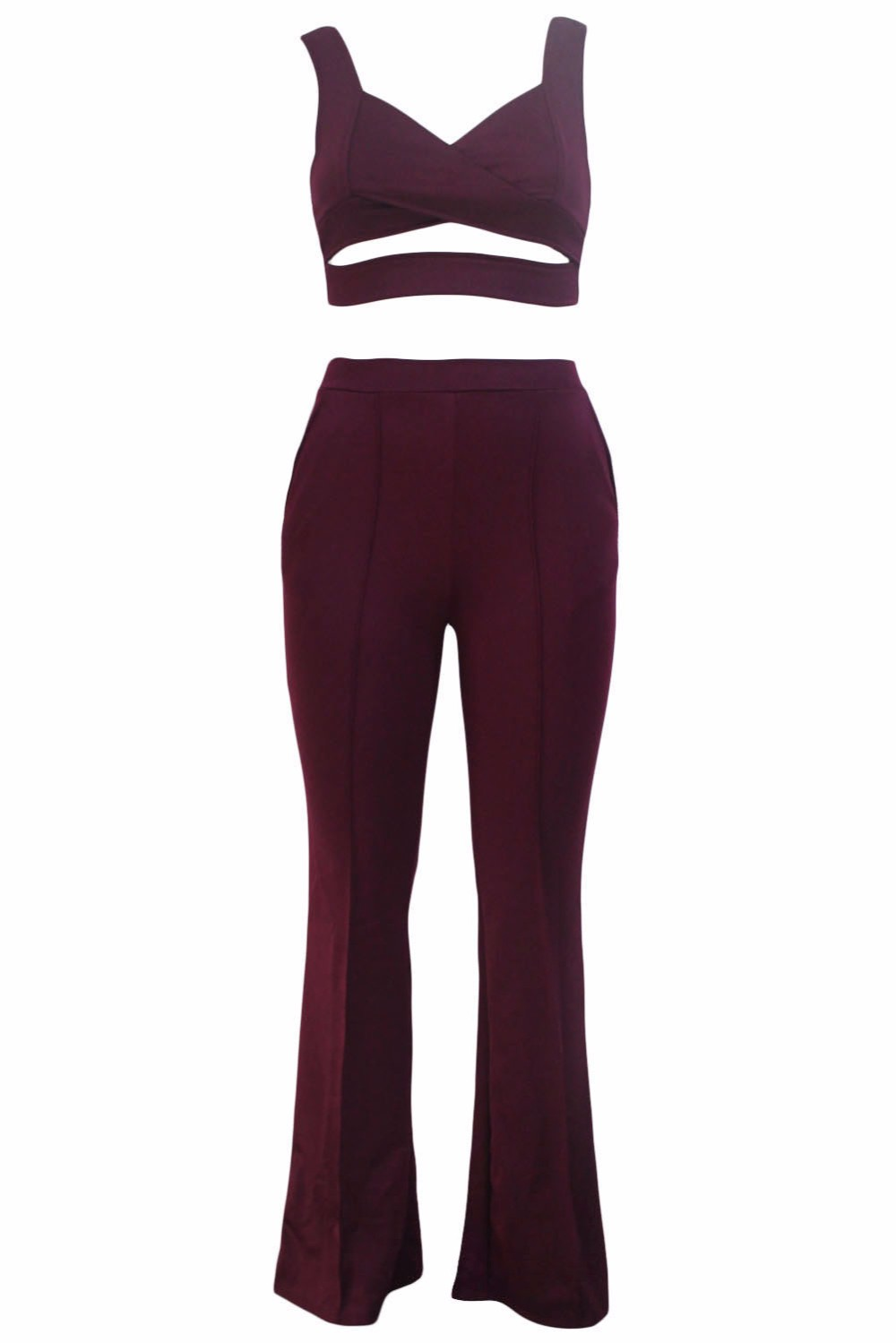 Burgundy-Cross-Front-Crop-Top-and-Pocket-Pant-Set-LC62005-3-42963
