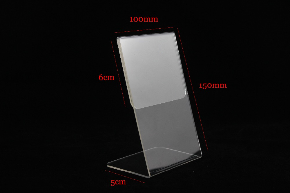 Precise 20pcs A5 Vertical Acrylic Magnetic Label Holder Stand L Black Sign Card Poster Menu List Frame Advertising Rack Desktop Desk Set