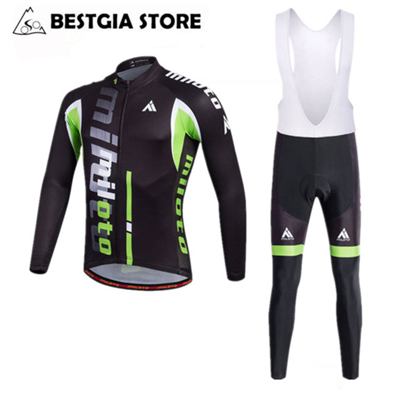 Cycling Long Sleeve Jersey Sets Bib Pants Autumn Men Bike Jerseys Road Track Race Cut Aero Bicycle Clothing Ropa Ciclismo XS-4XL santic men s cycling hooded jerseys rainproof waterproof bicycle bike rain coat raincoat with removable hat for outdoor riding