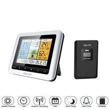 лучшая цена Weather Station Barometer Wireless Indoor Outdoor Sensor Thermometer Hygrometer Digital Alarm Clock Temperature Instruments