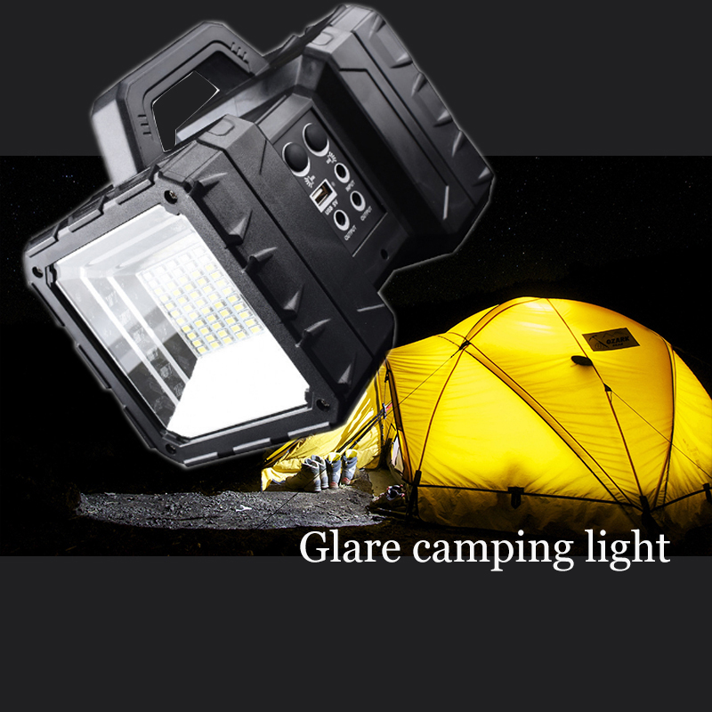 LED Floodlight Outdoor Square Camping Portable Household Rechargeable Searchlight Flashlight Emergency Lighting solar rechargeable flashlight led hardlight searchlight outdoor lighting high power portable emergency power bank light