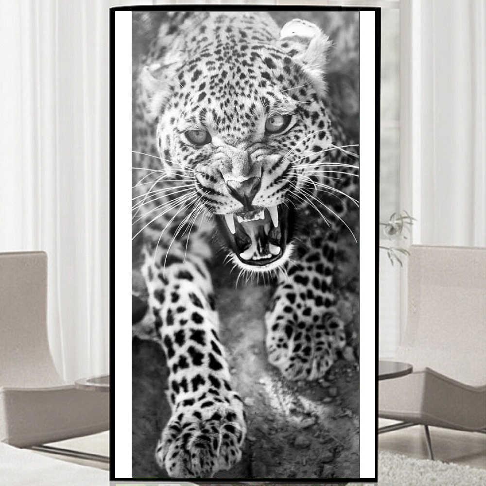 Pbrillant 5D bricolage diamant peinture léopard animaux photos avec affichage complet rond strass diamant broderie vente nouveaux arrivants