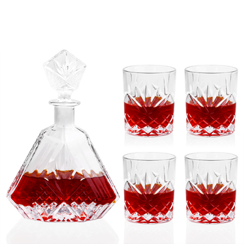 High-end Whiskey Decanter Whiskey Glass Lead-Free for Wine Whiskey Liquor Drink for Home Bar Party Wedding Wine Bottle 650ml фото
