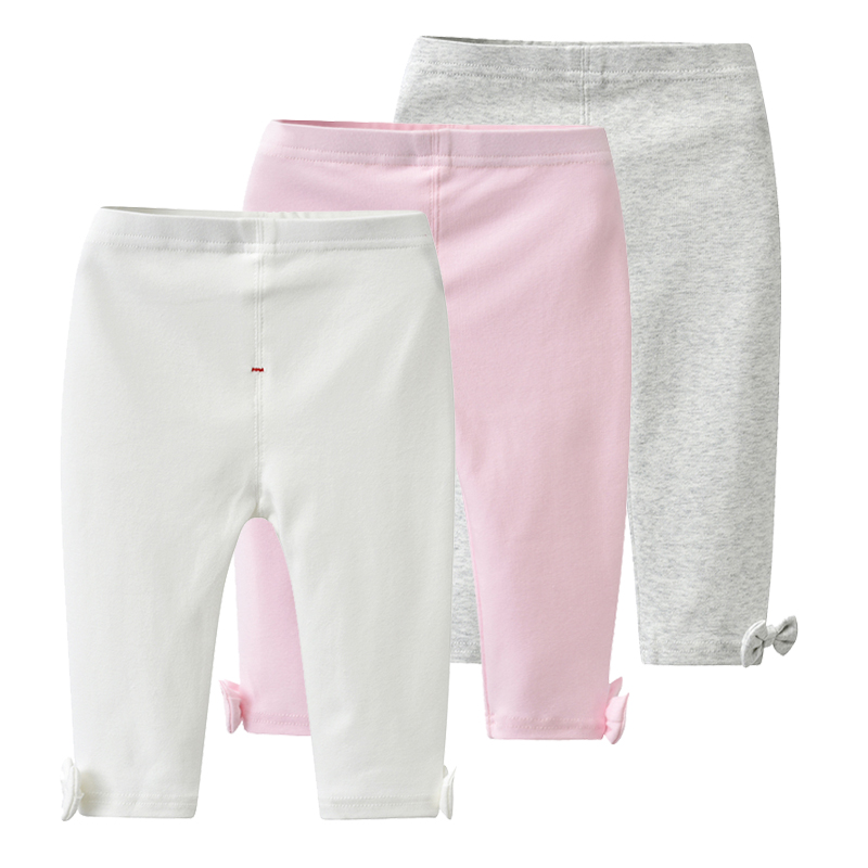 Auro Mesa Baby And Toddler Girls' 3-Pack Leggings Pants Bowknot Baby Trousers