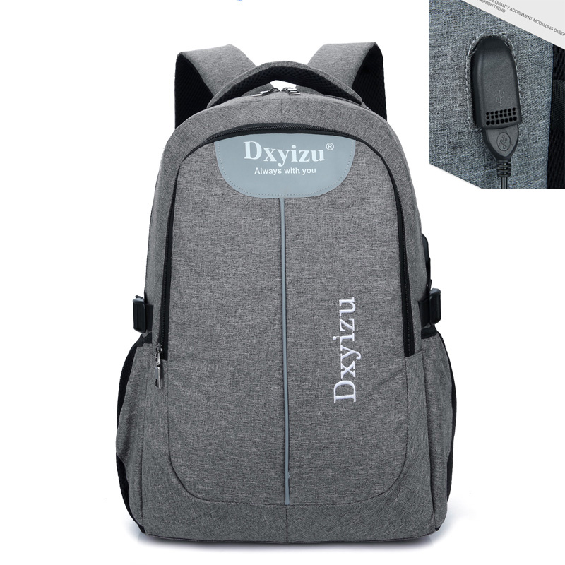 2017 New External USB Charge canvas Bag Men Notebook Backpack Waterproof Women 14 inch Laptop School Backpack Men Unisex Mochila