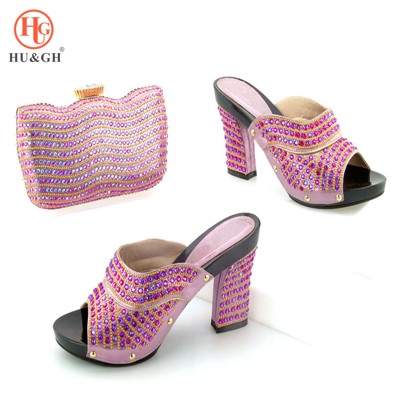 2018 Pink Italian Shoes with Matching Bags for Wedding Italy Nigerian Wedding Shoes and Bag Set African Party Shoes and Bag Set 2017 new fashion italian shoes with matching bags for party african shoes and bags set for wedding shoe and bag set hhy1 2