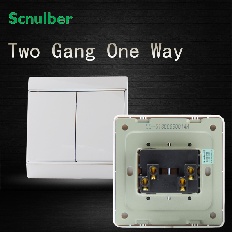 hotel white 16A 220V new design 2 gang 1 way 16A electrical wall ...