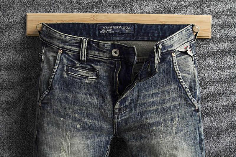 Mode Klassischen Männer Jeans Vintage Designer Slim Fit Farbe Hosen Retro Waschen Italienischen Stil Jeans Männer Street Hip Hop Jeans