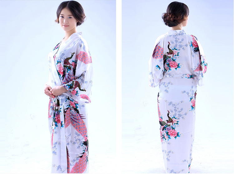 Купить с кэшбэком Fashion National Trends Women  Kimono Yukata With Obi Novelty Evening Dress Japanese Cosplay Costume Floral