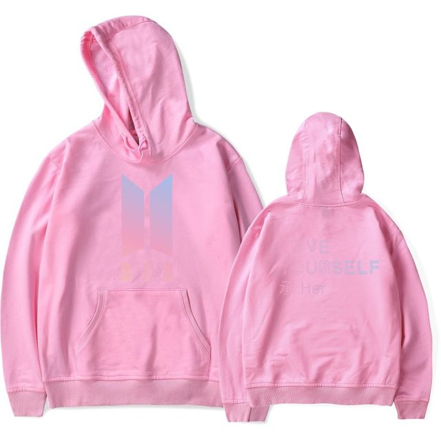 LUCKYFRIDAYF BTS LOVE YourSelf New Album Hooded Sweatshirt Women Winter Bangtan Fashion Harajuku Hoodies Women Fans Kpop Clothes