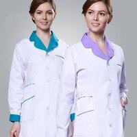 Nuevo llega la largo-Manga corta enfermera uniformes Hospital friega la venta caliente clínica dental esteticista uniforme envío gratis