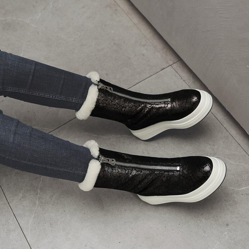 Высокая версия белой обуви Finard McQueen; женская кожаная обувь McQueen на толстой рифленой подошве, увеличивающая рост; Новинка 2019 года; Осенняя обу... - 6