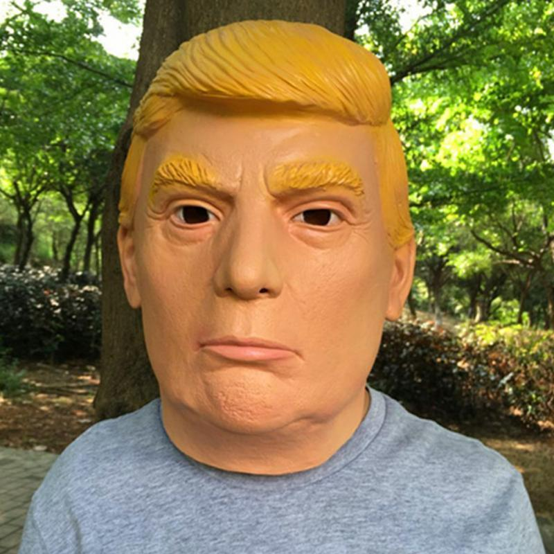 High Quality Donald Trump Mask Realistic Donald Trump Cosplay Latex Mask For Halloween Masquerade Carnival Free Shipping