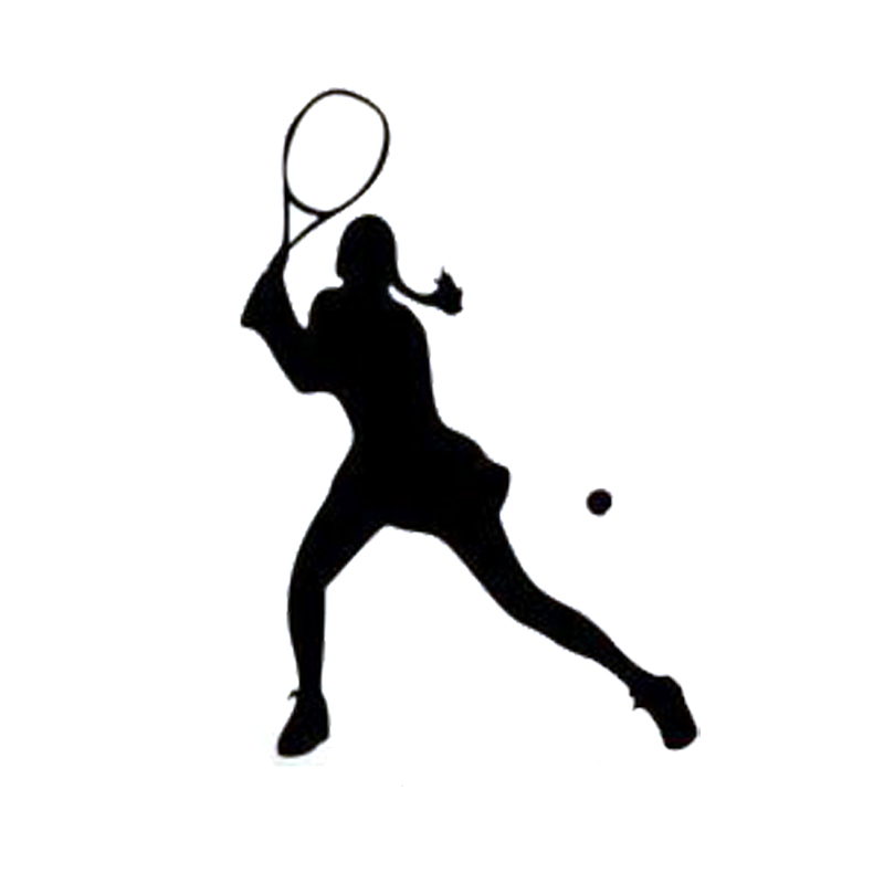 11.2*16.2CM Personalized Custom Women's Tennis Player Of Car Stickers Vinyl Decals Covering The Body Black/Silver C7-0783 статуэтки forchino статуэтка теннисист the tennis player
