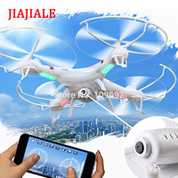 JIAJIALE RC Drones 2MP HD CAM WIFI FPV Real time 2.4G Quadcopter 6 Axis Headless 898B Helicopter VS X5C 1 X800 X5SW