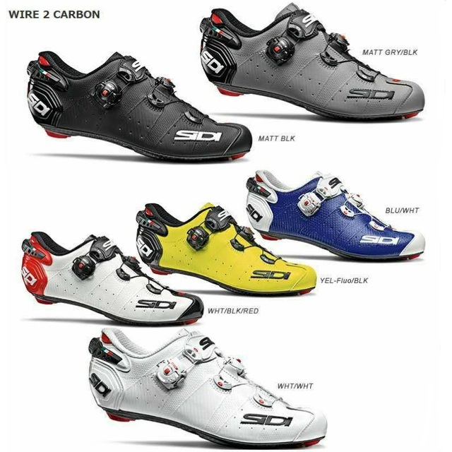 2020 Sidi Wire 2 route Lock chaussures chaussures Vent carbone route chaussures cyclisme chaussures vélo chaussures
