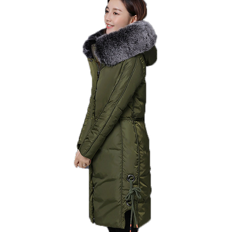 RosEvans Anti-season Promotion Women Hooded Cotton Down Jacket Coat for Women 2017 Winter Big Fur Collar Parkas Jacket B555 2015 real promotion space cotton coat jacket bolsa cherry free herbal tea wholesale agent huang ju oem processing one generation