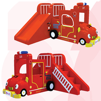 YLW customized software kids soft toy baby indoor playground cartoon Fire engine game center/soft slide climbed YLW INA171059