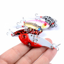 1Pcs Metal VIB Lures 5.5cm/11g Vibration Spoon Lure Fishing Bass Bait Artificial Cicada Vib For