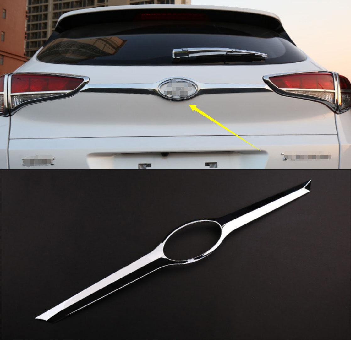 Chrome tailgate trunk hatch trim bezel cover trim for2015 2016 hyundai tucson a china