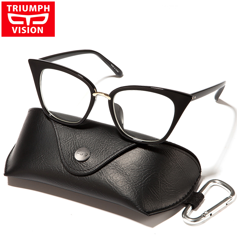 Big Frame Glasses Hipster : Cat Eye Eyewear Frames Optical Myopia Clear Lens Glasses ...