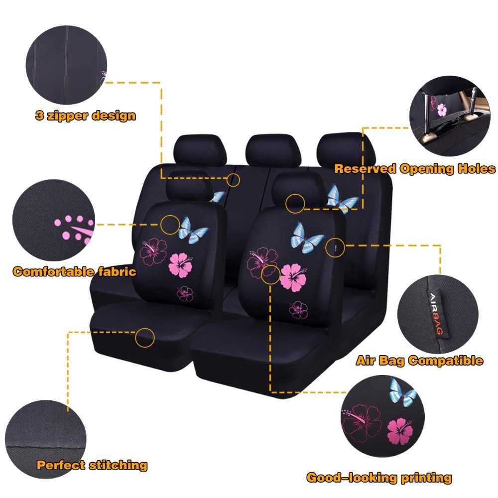 Fundas universales de mariposa para asiento de coche para coches, accesorios de Interior de coche Suv