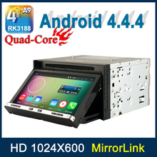 Quad core A9 2 Din Universal Android 4.4.4 Car DVD Player Video GPS with Mirror link Radio WiFi BT Support OBD2 3G TV DVR