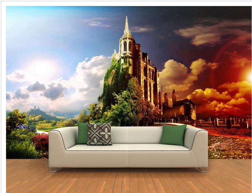 Online Shop wallpaper modern 3d Forest wall of the castle wall