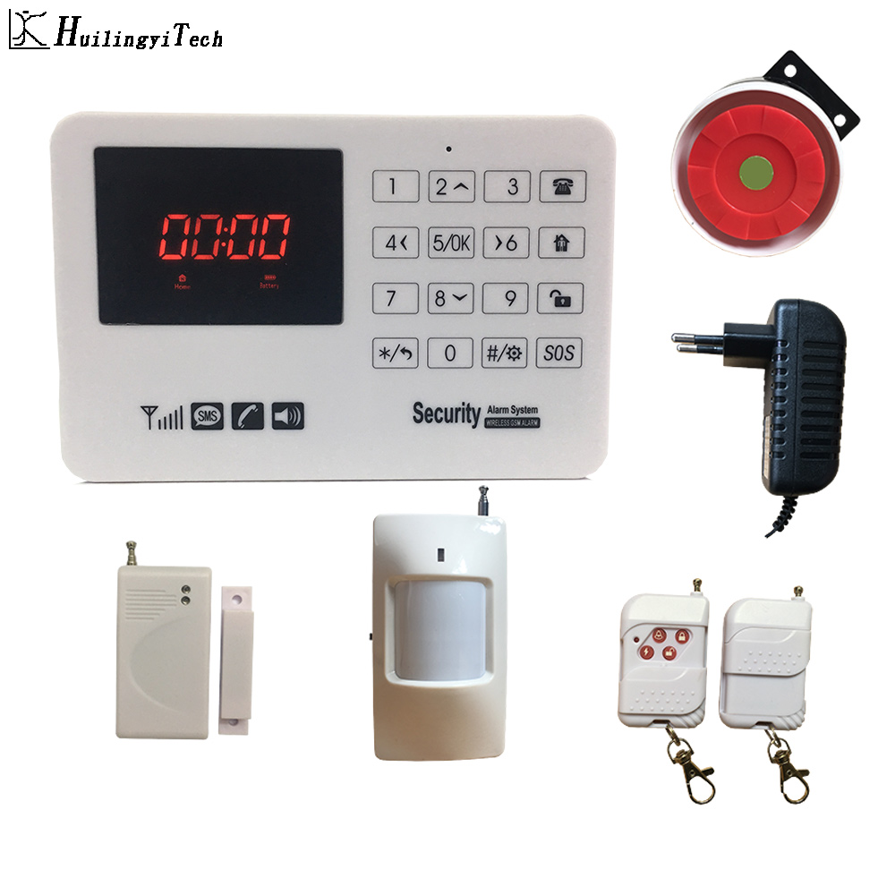 GSM Alarm System VIP Buyer Price 433MHz Home Alarm Security System Door Detector Infrared Detector Touch Keyboard Security Home