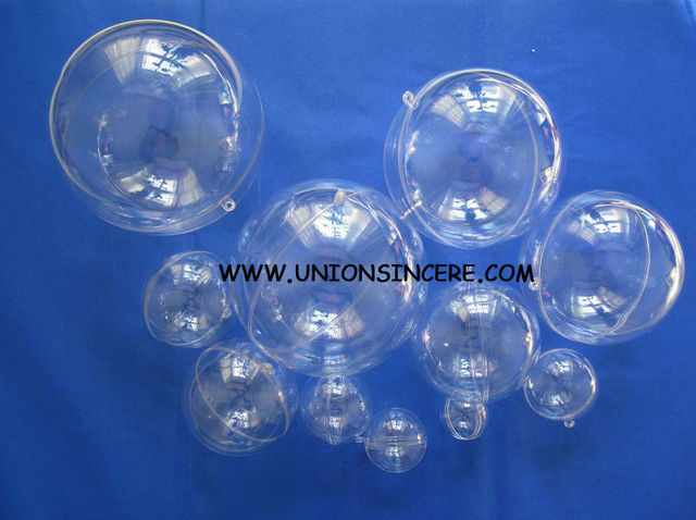 Free Shipping 5cm Clear Plastic Ball Fillable Ornaments