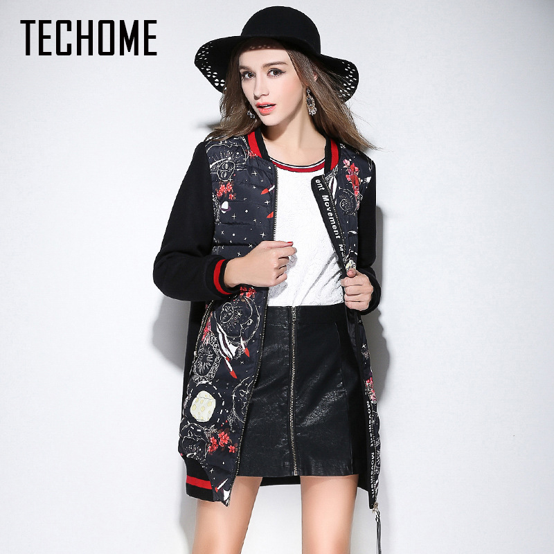 TECHOME 2017 Long Womens Winter Jackets And Coats Warm Women Parka Women's Winter Jacket Female Cotton Anorak Manteau Femme стоимость