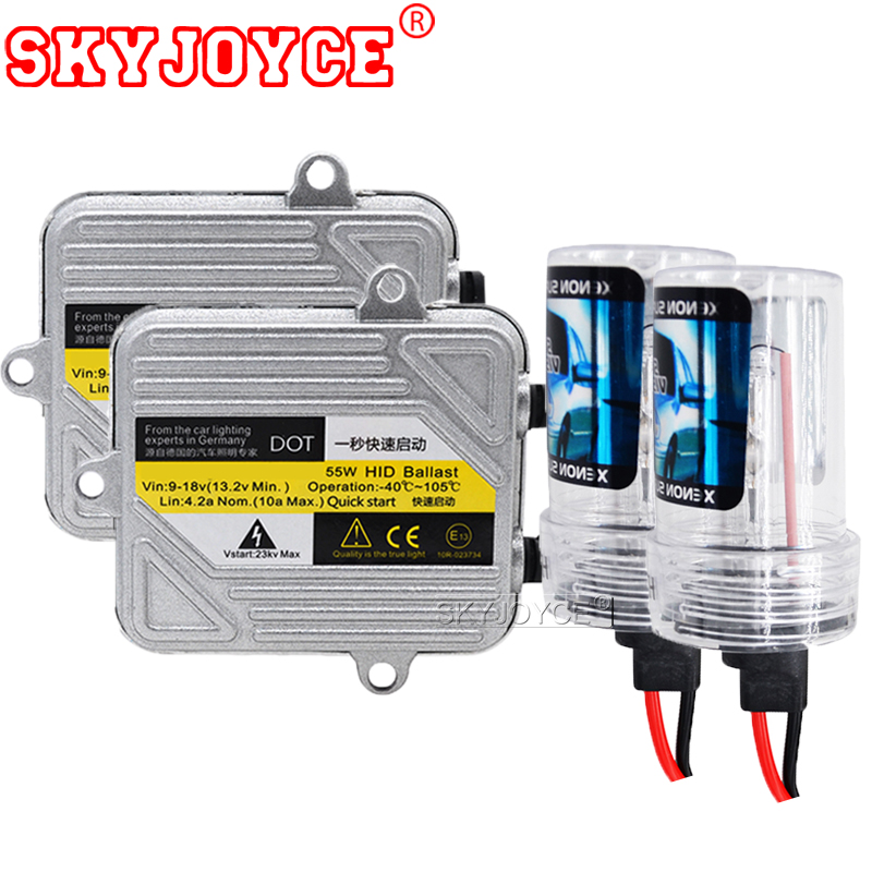 SKYJOYCE Xenon H1 H3 H4 4300K H7 6000K H11 5000K H8 HB3 HB4 H27 55W HID Xenon Kit Ballast Bulb Car Light Headlight DRL Lamp kit makibes h3 55w 12v xenon hid kit car headlight xenon bulb