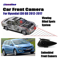 Liandlee Car Front View Logo Embedded Camera For Hyundai I30 GD 2012 2017 2015 2016 Cigarette Lighter / 4.3 LCD Monitor Screen