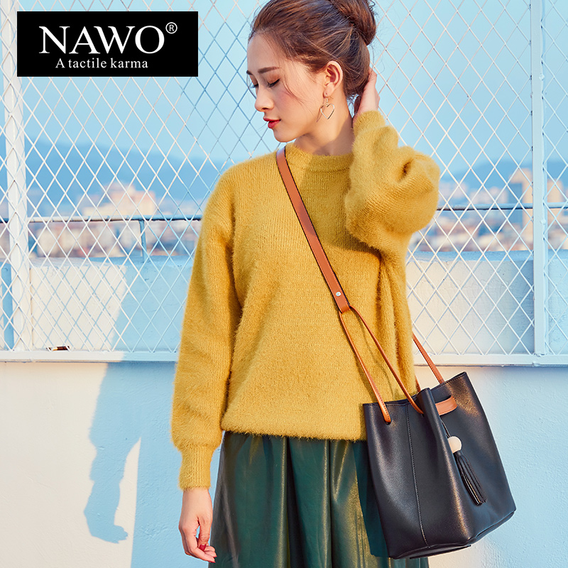 NAWO Women Shoulder Bag crossbody bags for women HandBags Brand Crossbody Bag Female Tassel Woman Bags Designer Drawstring leftside fashionable 2017 women tassel designer rivet boston bag female handbag woman hand bags shoulder bag with wide strap