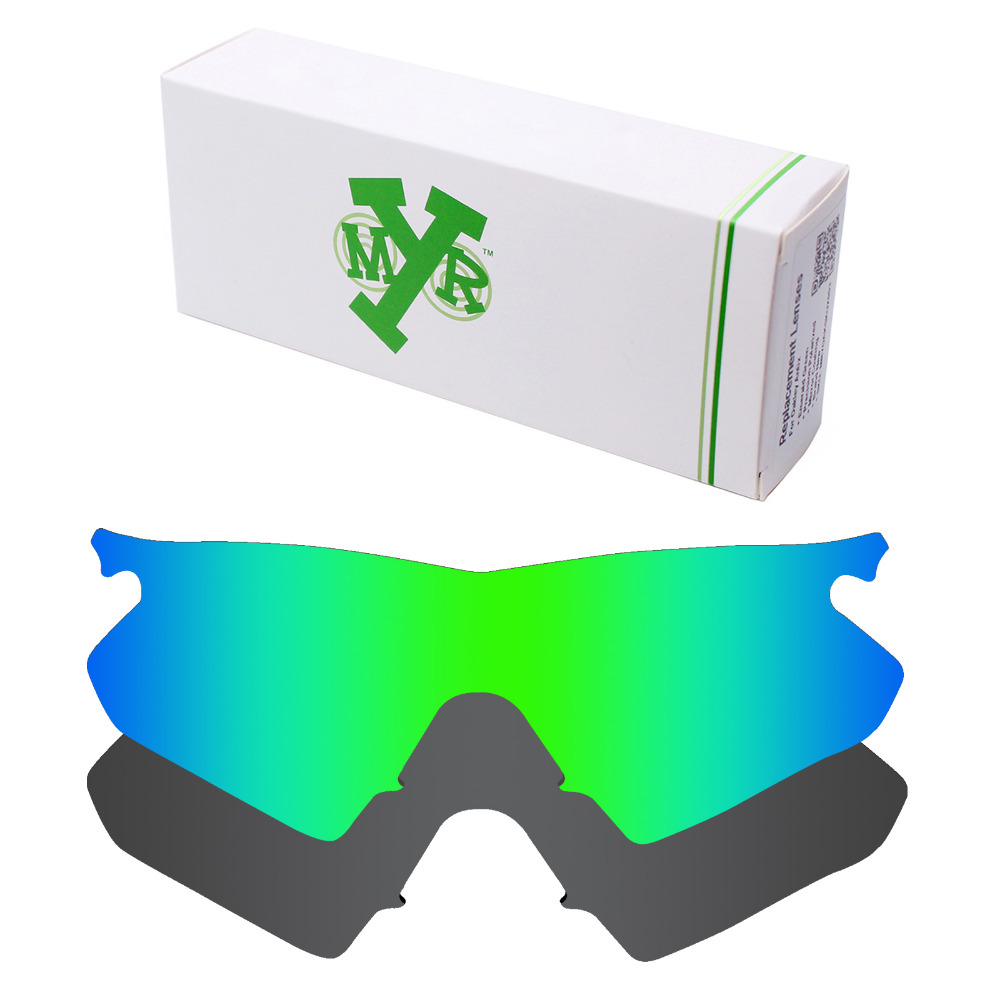 52a3d2ad4e 2 Pieces Mryok POLARIZED Replacement Lenses for Oakley M Frame Heater  Sunglasses Lens Stealth Black   Emerald Green