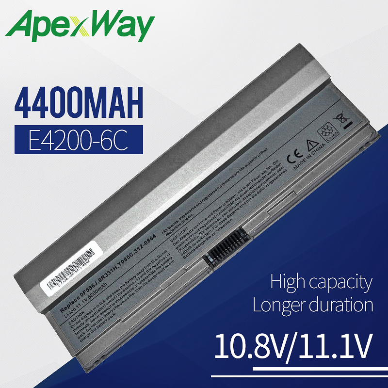 4400mAh laptop <font><b>battery</b></font> for Dell Latitude <font><b>E4200</b></font> F586J R331H R640C R841C W343C W346C X784C Y082C Y084C Y085C image